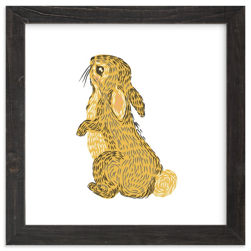 """Golden Rabbit"" - Art Print by Snow and Ivy in beautiful frame options and a variety of sizes."