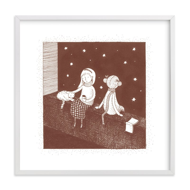 """Star Gazers"" - Limited Edition Art Print by Maria Gromek in beautiful frame options and a variety of sizes."