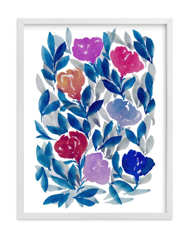 """hand painted flowers_2F"" - Art Print by aticnomar in beautiful frame options and a variety of sizes."