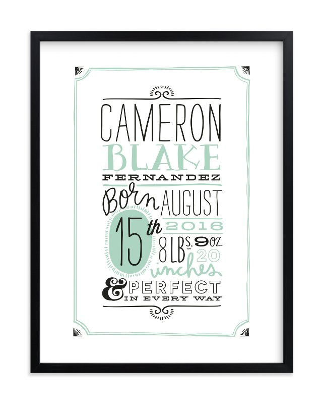 """""""Vintage Info"""" - Nursery Custom Art Print by Alethea and Ruth in beautiful frame options and a variety of sizes."""