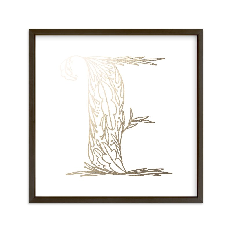 """Botanical E"" - Foil-pressed Art Print by Grace Kreinbrink in beautiful frame options and a variety of sizes."
