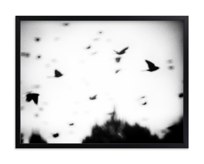 """Blackbirds"" - Art Print by Donna Rosser in beautiful frame options and a variety of sizes."