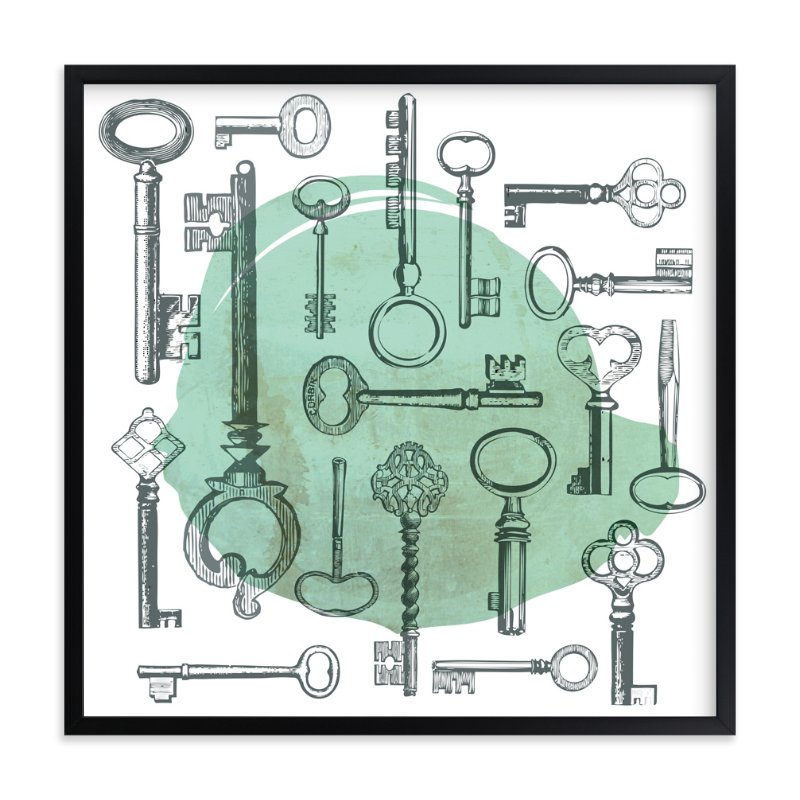 """""""Key Collage"""" - Art Print by Diana Steinsnyder in beautiful frame options and a variety of sizes."""