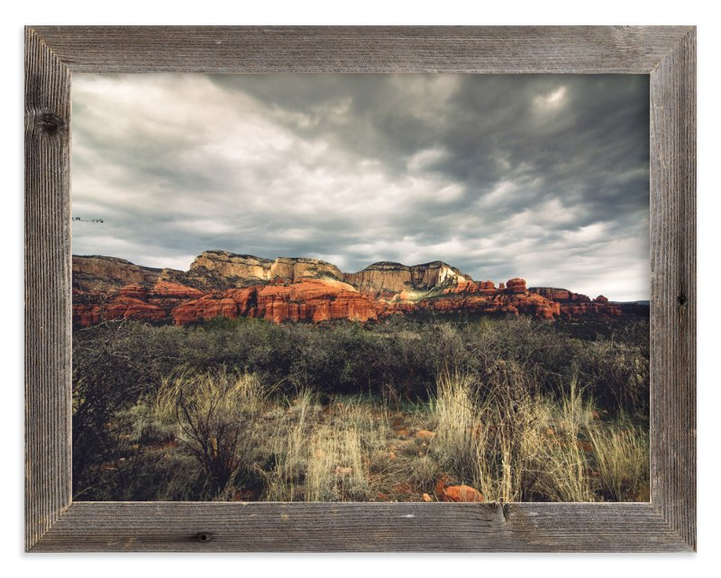 """""""Winter In Sedona"""" - Art Print by Kamala Nahas in beautiful frame options and a variety of sizes."""