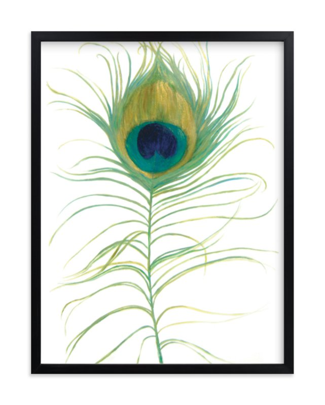"""""""Ruffled Feather"""" - Art Print by LChantel in beautiful frame options and a variety of sizes."""