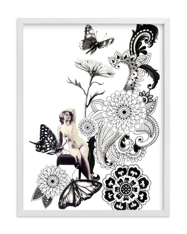 """""""Paisley Butterflies"""" - Art Print by Lauren Matsumoto in beautiful frame options and a variety of sizes."""