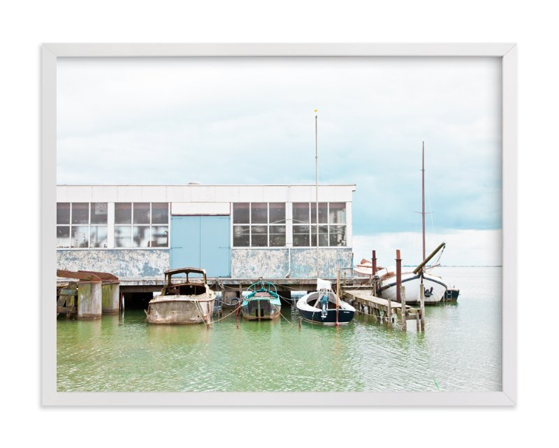 """Rusty Dock"" - Art Print by Alexandra Feo in beautiful frame options and a variety of sizes."