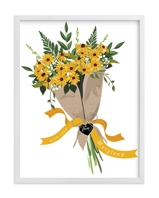 """""""Maryland Blackeyed Susan Bouquet"""" - Art Print by Susan Moyal in beautiful frame options and a variety of sizes."""