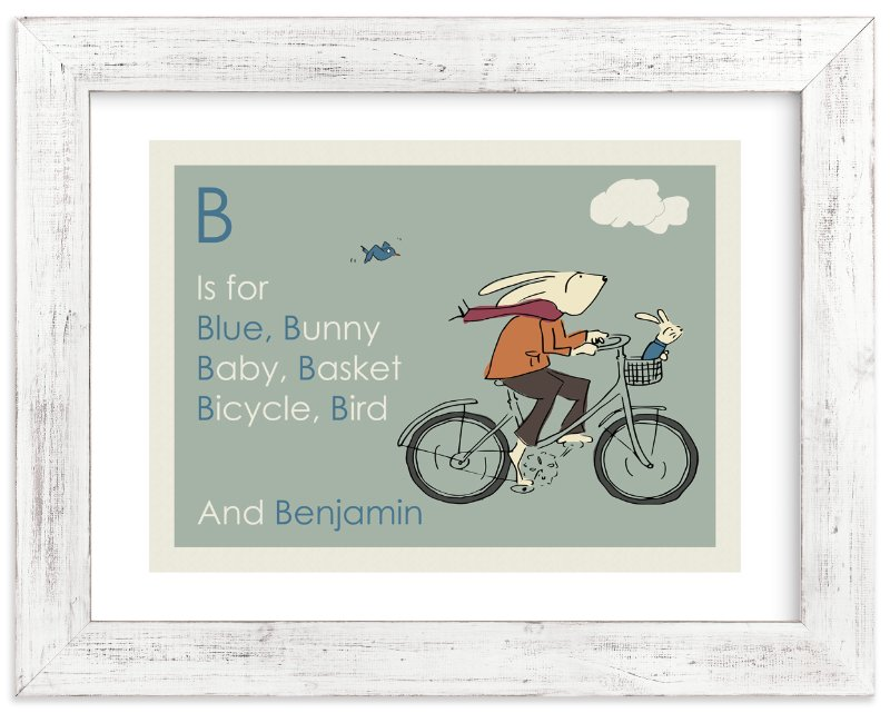 """B is for Bunny"" - Art Print by Sandy Mitchell in beautiful frame options and a variety of sizes."