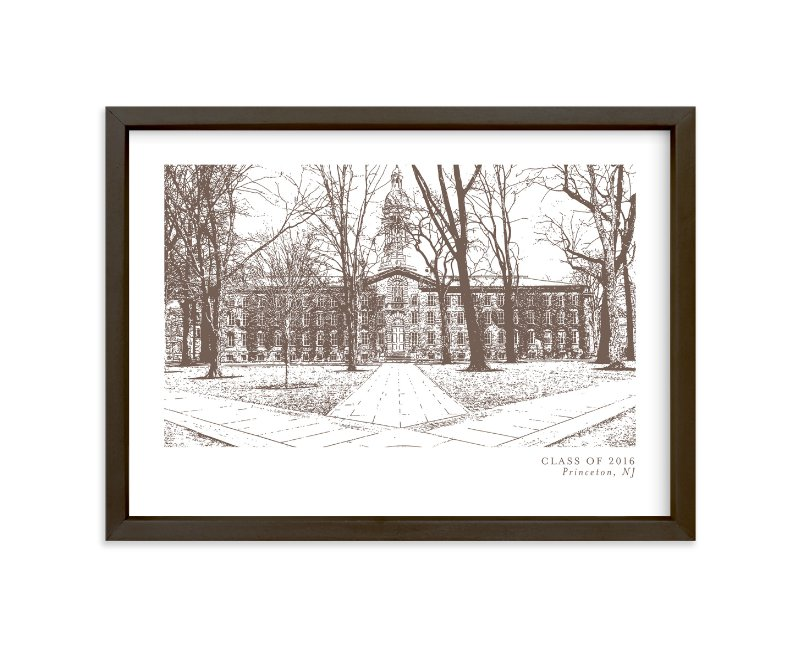 """School Series – Princeton, NJ"" by Minted in beautiful frame options and a variety of sizes."