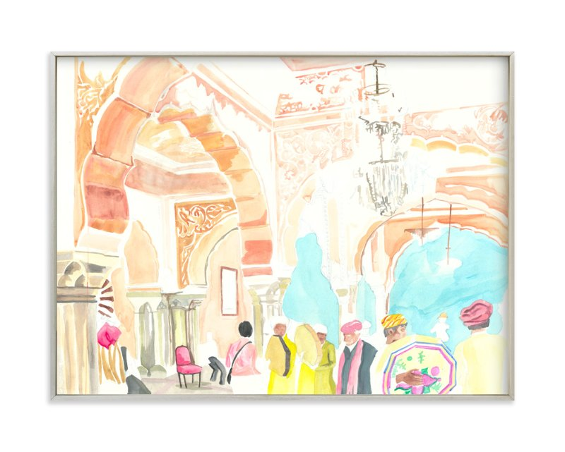 """""""Jaipur, Amer Palace"""" - Art Print by Hilary Hahn in beautiful frame options and a variety of sizes."""