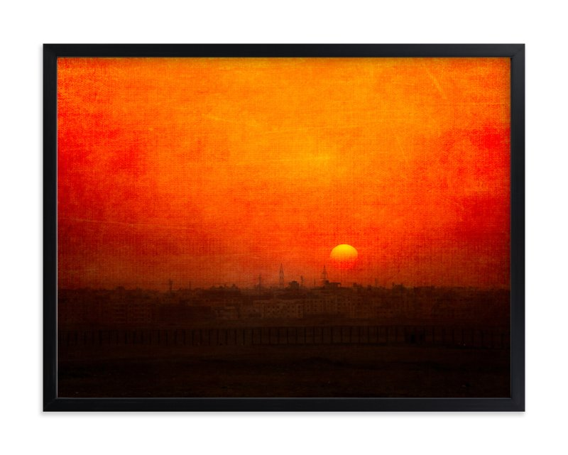 """""""Cairo Sunset"""" - Art Print by Heather Squance in beautiful frame options and a variety of sizes."""