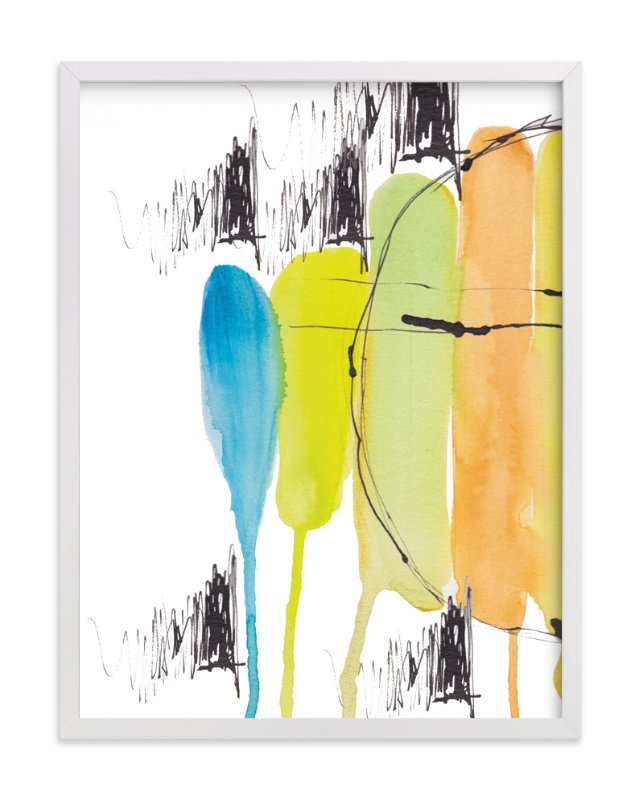 """Melted Popsicles"" - Art Print by Deborah Velasquez in beautiful frame options and a variety of sizes."