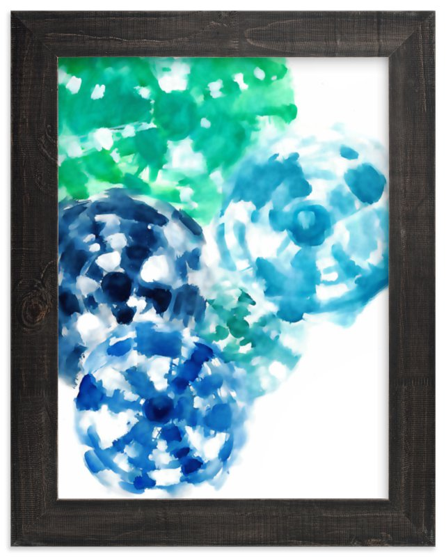 """""""Ocean Tie Dye"""" - Art Print by Jenny Partrite in beautiful frame options and a variety of sizes."""