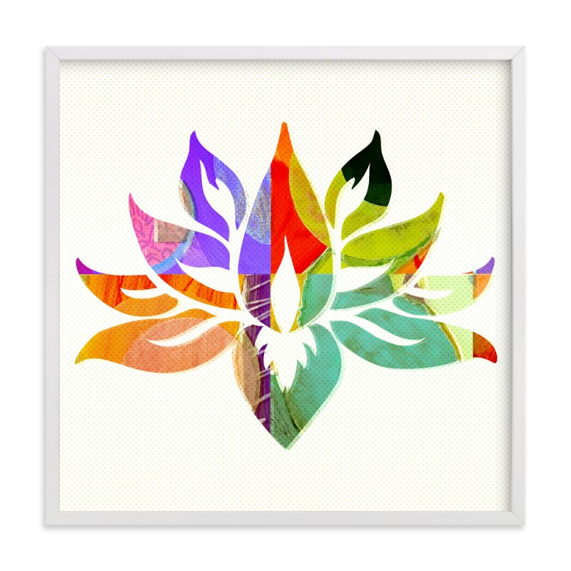 """Lovely Lotus"" - Art Print by Anne Crosse in beautiful frame options and a variety of sizes."
