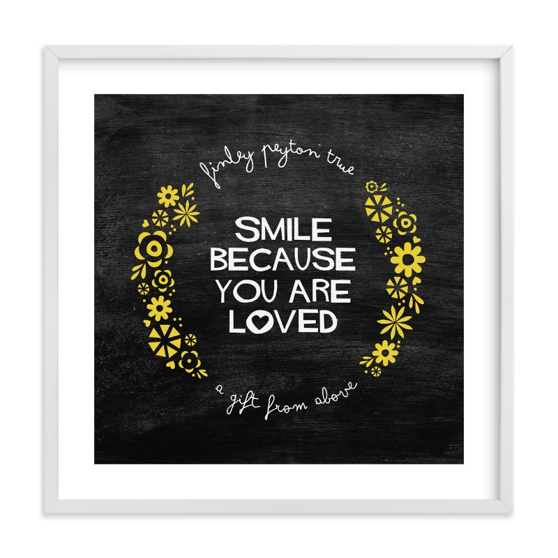 """""""Smile"""" - Nursery Custom Art Print by trbdesign in beautiful frame options and a variety of sizes."""