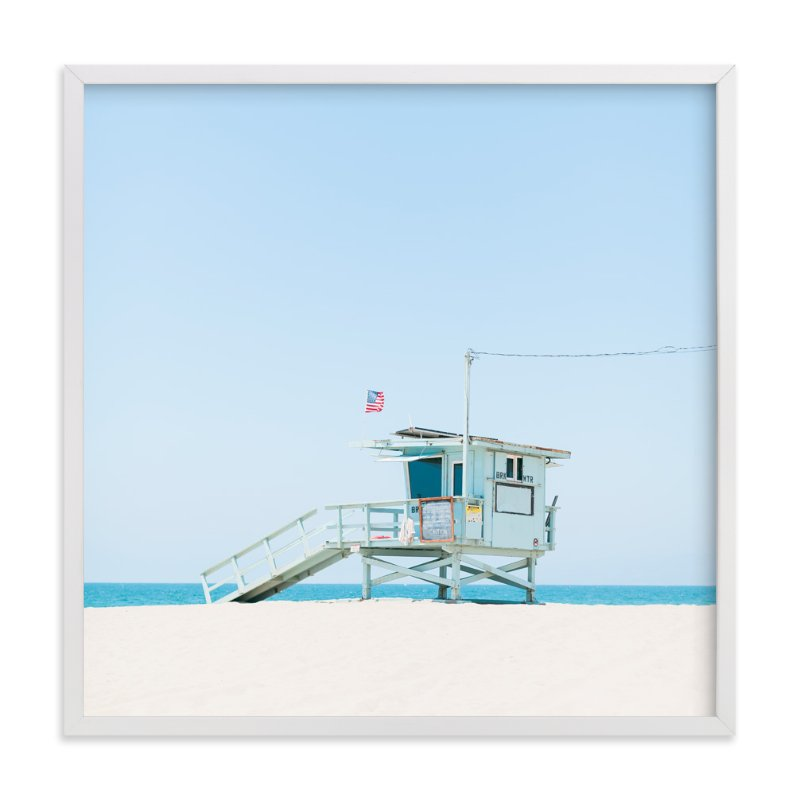 """""""Venice Beach"""" - Limited Edition Art Print by Jessica Cardelucci Nugent in beautiful frame options and a variety of sizes."""