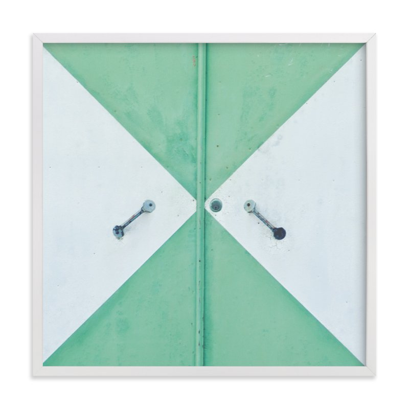 """Green Door"" - Limited Edition Art Print by Smile Peace Love in beautiful frame options and a variety of sizes."