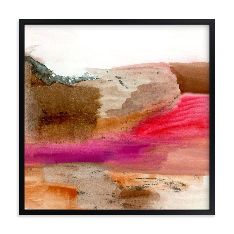 """Desert"" - Art Print by Mande in beautiful frame options and a variety of sizes."