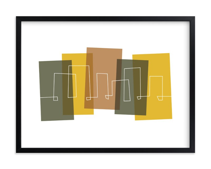 """Metropolitan"" - Art Print by Susan Asbill in beautiful frame options and a variety of sizes."