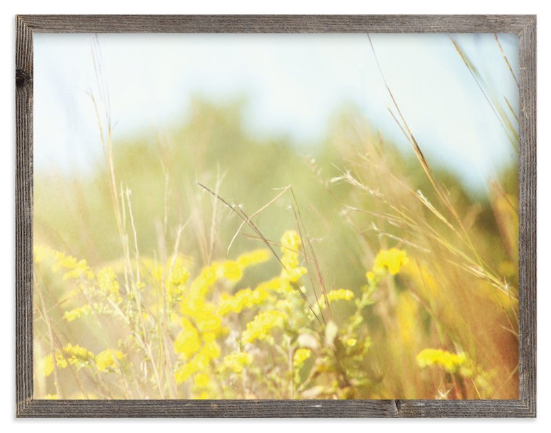 """""""Field of Sunshine"""" - Art Print by Smile Peace Love in beautiful frame options and a variety of sizes."""