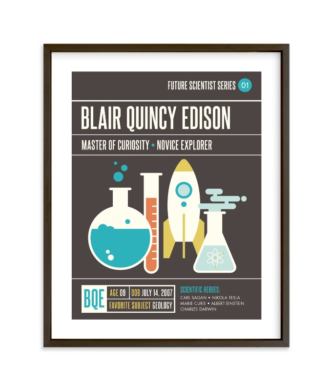 """Scientific Exploration"" - Children's Custom Art Print by kat bison in beautiful frame options and a variety of sizes."