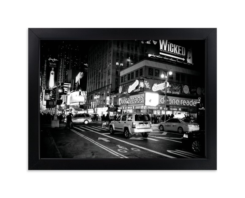 """""""Night in New York"""" - Art Print by Hendro Lim in beautiful frame options and a variety of sizes."""