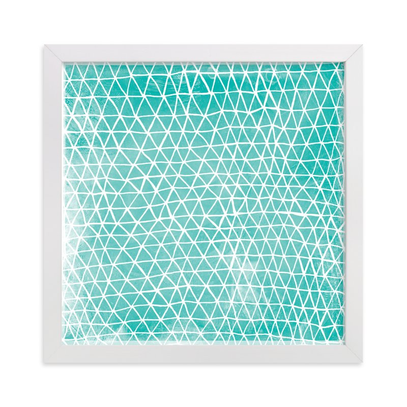 """""""Abstract Triangles"""" - Art Print by Paper Dahlia in beautiful frame options and a variety of sizes."""