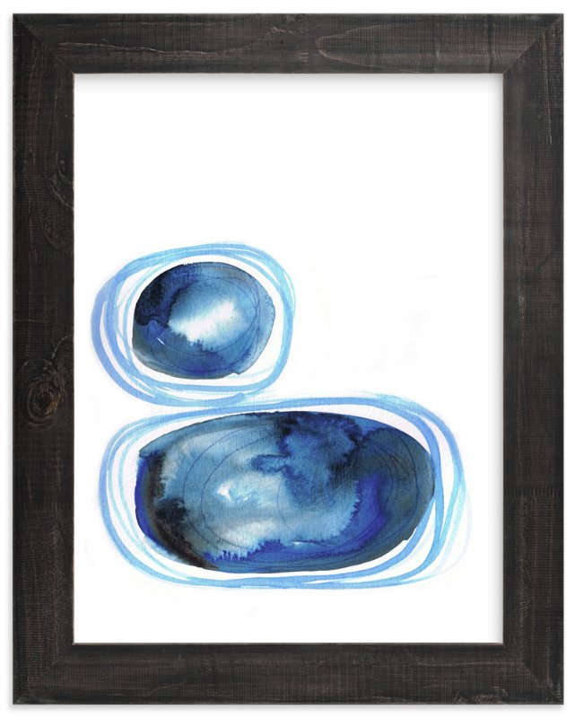"""Tumbled Stones"" - Art Print by Jacqui Langeland in beautiful frame options and a variety of sizes."