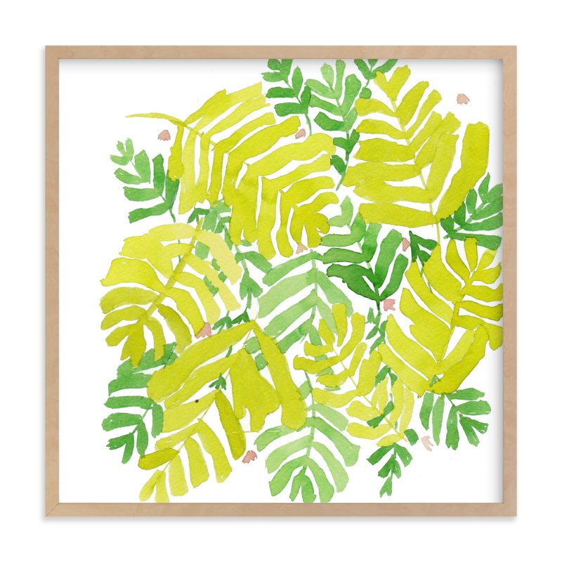 """fresh leaf"" - Art Print by Tae Lee in beautiful frame options and a variety of sizes."