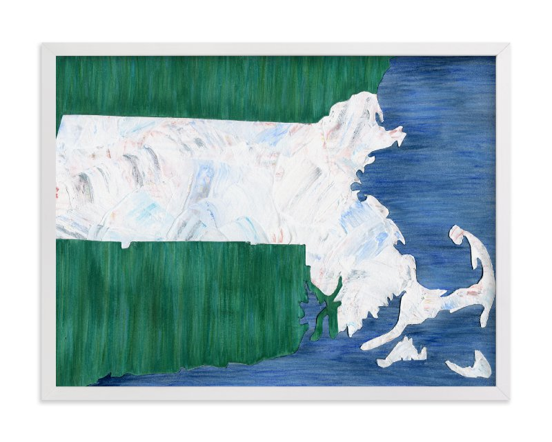 """""""Massachusetts in Paint"""" - Art Print by Denise Wong in beautiful frame options and a variety of sizes."""