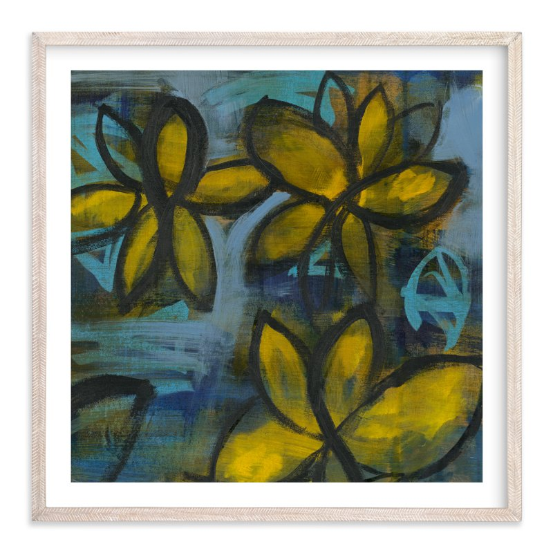 """""""Shining Flowers Series 2"""" - Art Print by Angela Simeone in beautiful frame options and a variety of sizes."""