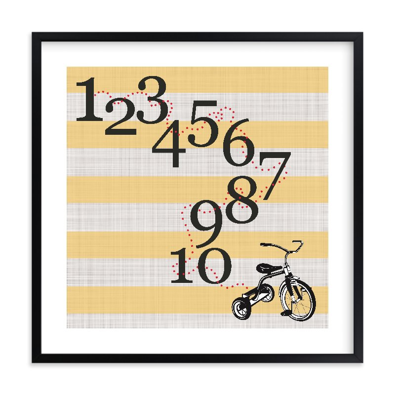"""Trike one to ten"" - Limited Edition Art Print by Jennifer Cooper in beautiful frame options and a variety of sizes."