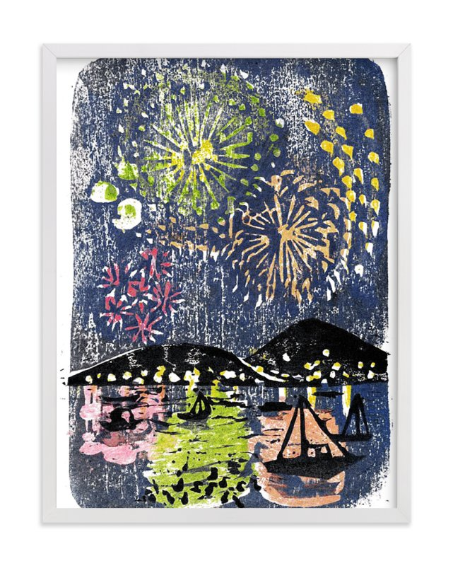 """Fireworks"" - Art Print by Aiko Poole in beautiful frame options and a variety of sizes."