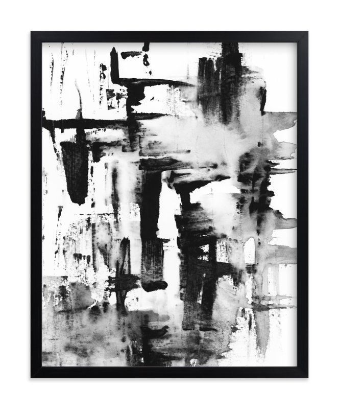"""""""Pushed"""" - Art Print by Mande in beautiful frame options and a variety of sizes."""