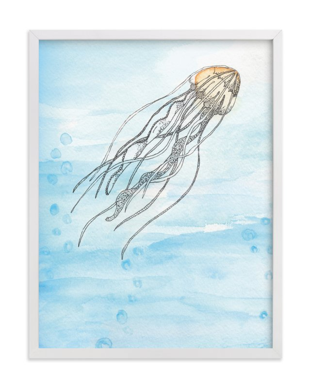 """Float On"" - Art Print by Lily Hanna in beautiful frame options and a variety of sizes."
