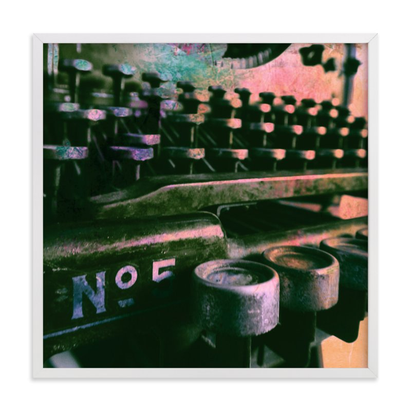 """""""Underwood No 5"""" - Art Print by Skoodler Designs in beautiful frame options and a variety of sizes."""