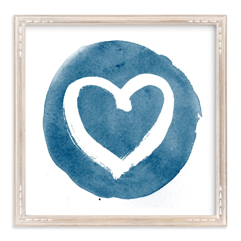 """Loving Heart in Brush"" - Art Print by Qing Ji in beautiful frame options and a variety of sizes."