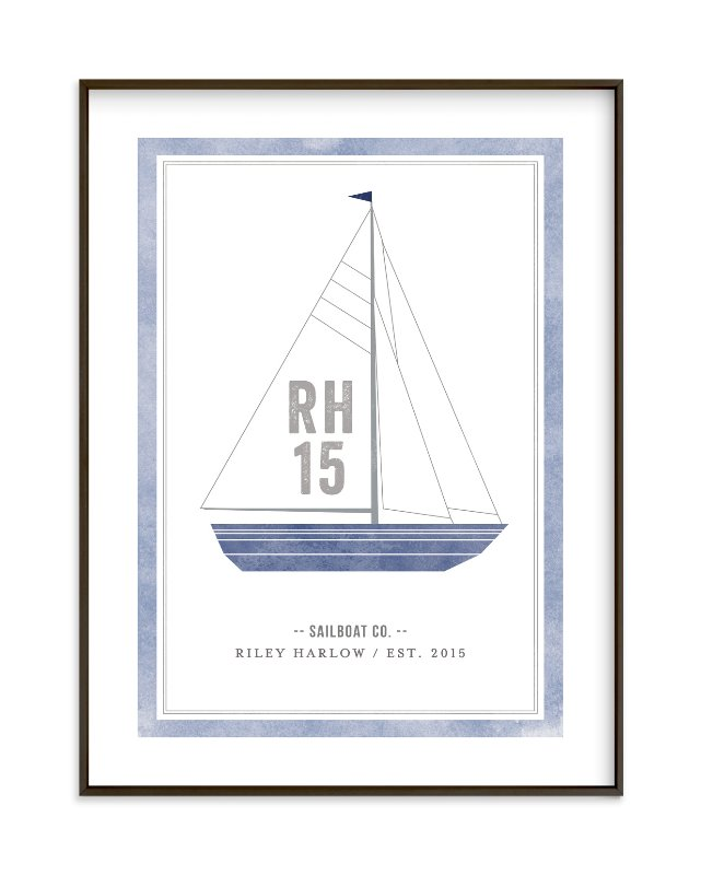 """Sailboat co."" - Children's Custom Art Print by j.bartyn in beautiful frame options and a variety of sizes."