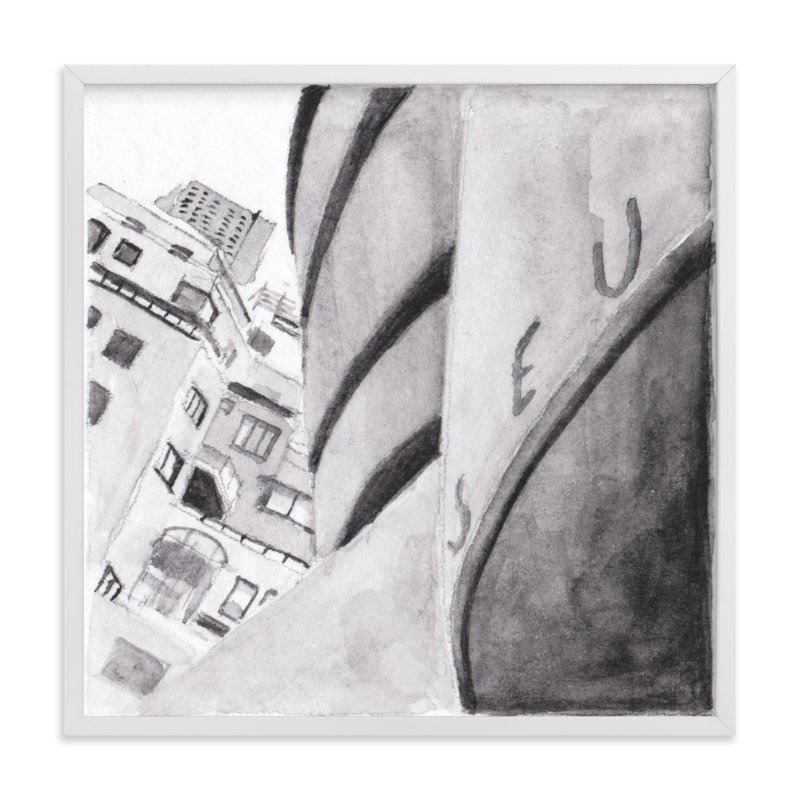 """""""Guggenheim Museum New York"""" - Art Print by Viktoria Eperjesi in beautiful frame options and a variety of sizes."""
