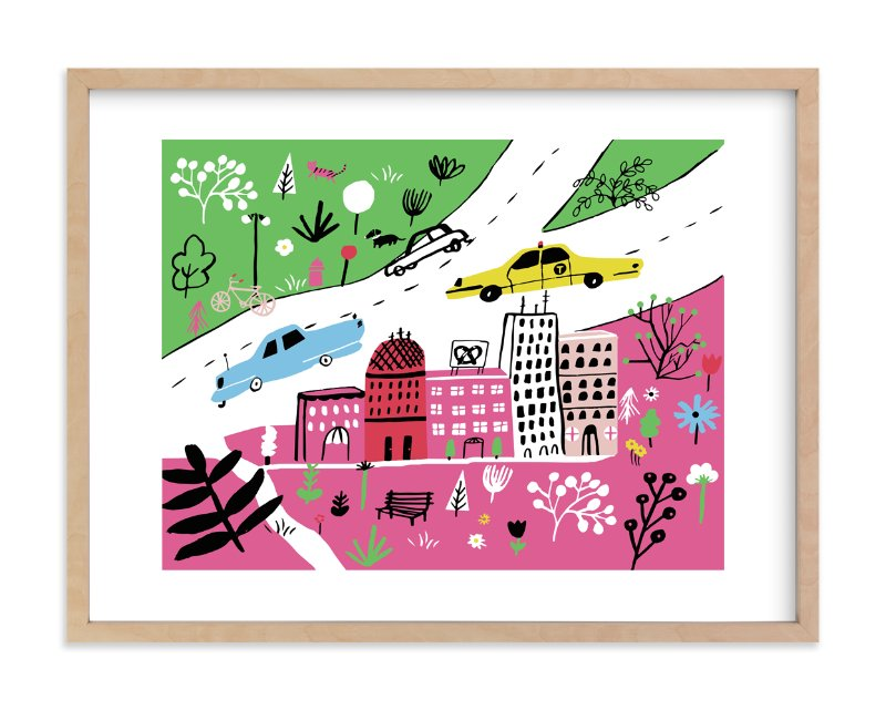 """City State of Mind"" - Limited Edition Art Print by Jordan Sondler in beautiful frame options and a variety of sizes."