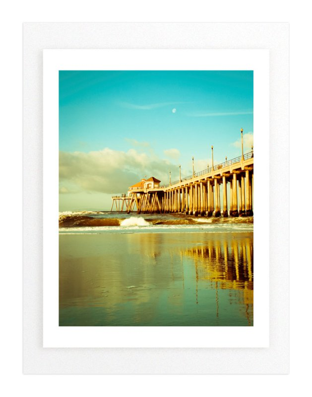 Huntington Beach Wall Decor : Huntington beach pier reflections wall art prints by debra