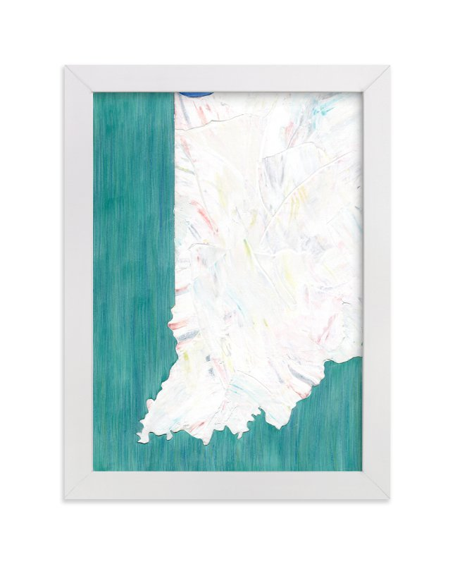 """Indiana in Paint"" - Art Print by Denise Wong in beautiful frame options and a variety of sizes."