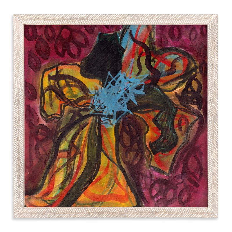 """Contemporary Flower"" - Art Print by Angela Simeone in beautiful frame options and a variety of sizes."