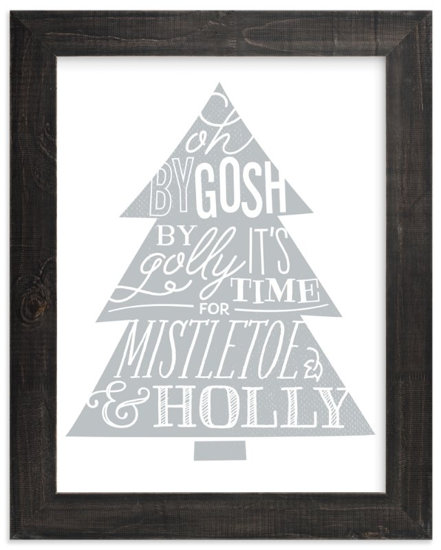 """Mistletoe & Holly"" - Art Print by Jessie Steury in beautiful frame options and a variety of sizes."