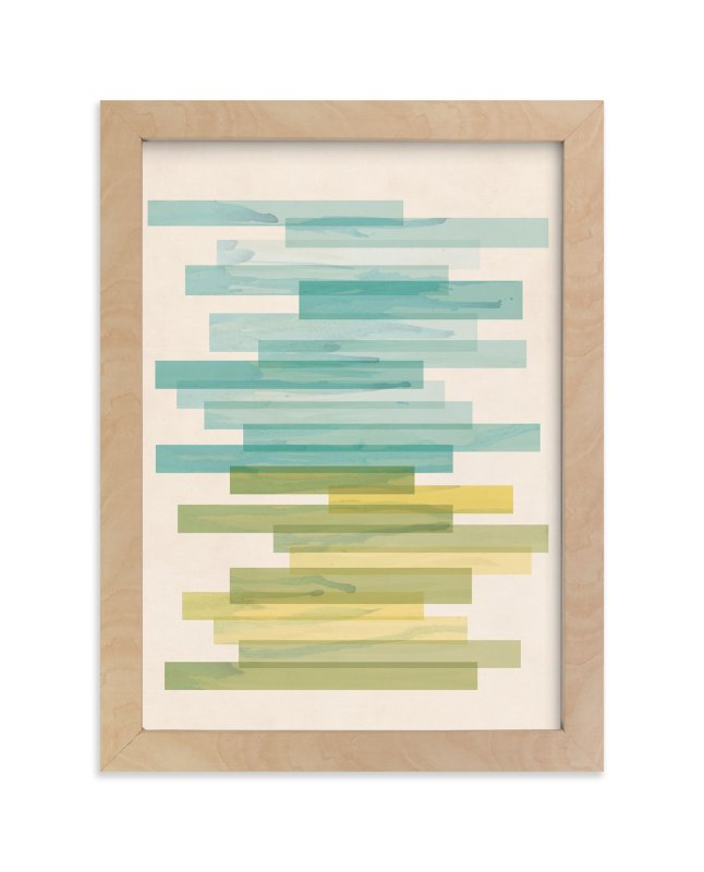 """Stacked Horizon"" - Art Print by Jennifer Morehead in beautiful frame options and a variety of sizes."