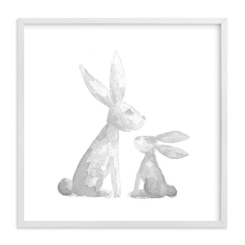 """""""Sweet Baby Bunny"""" - Art Print by Jessie Steury in beautiful frame options and a variety of sizes."""