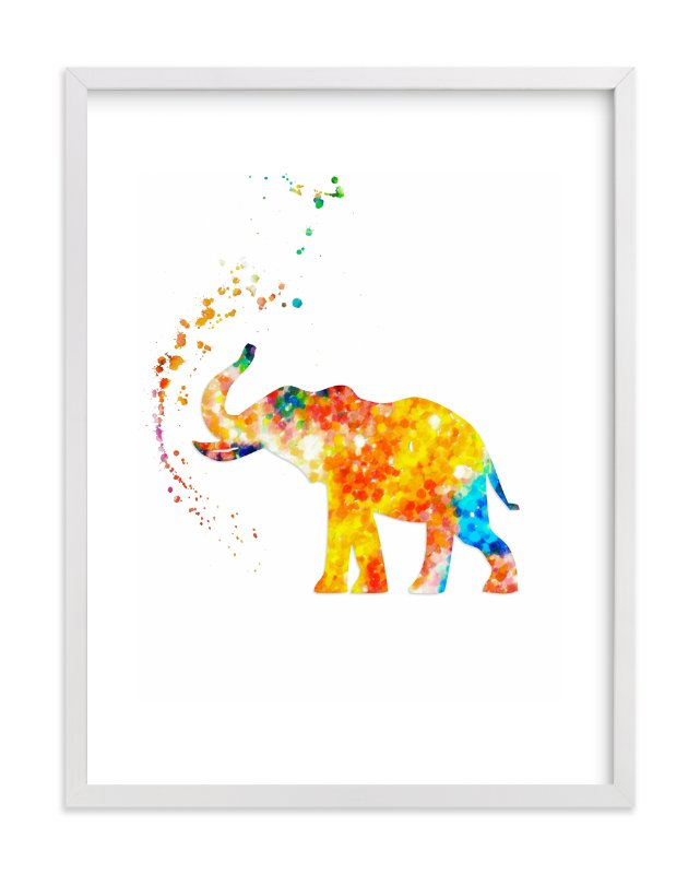 Good Luck Baby Elephant Wall Art Prints By Alex Isaacs