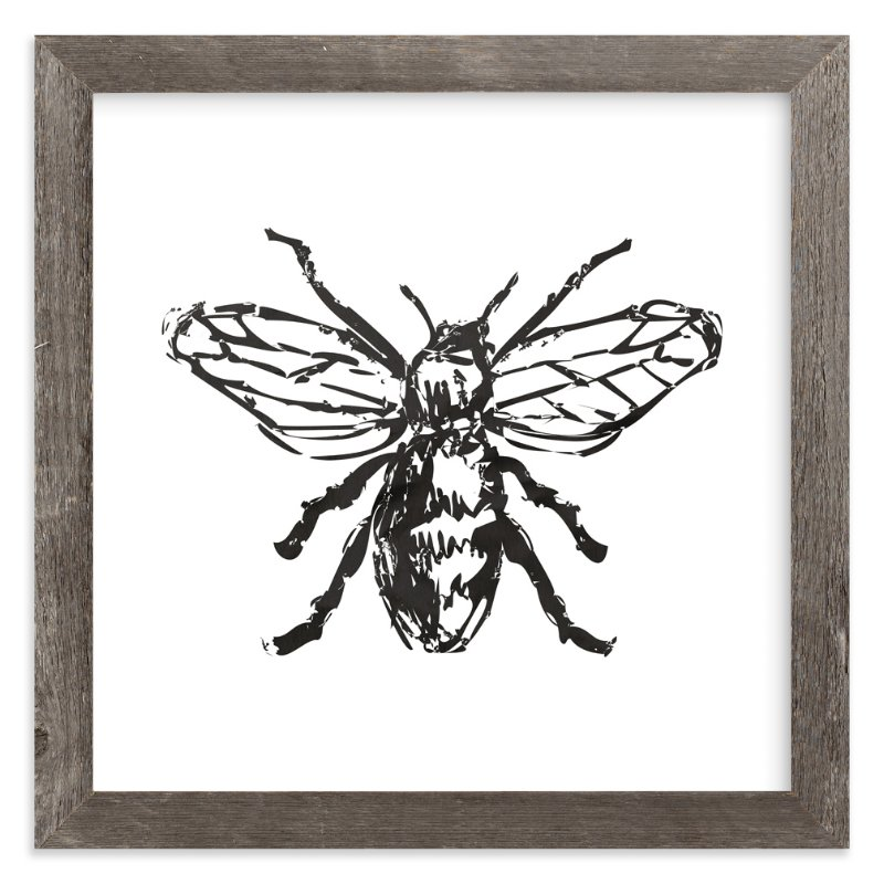"""""""Free to Bee Me"""" - Art Print by hey paper moon in beautiful frame options and a variety of sizes."""