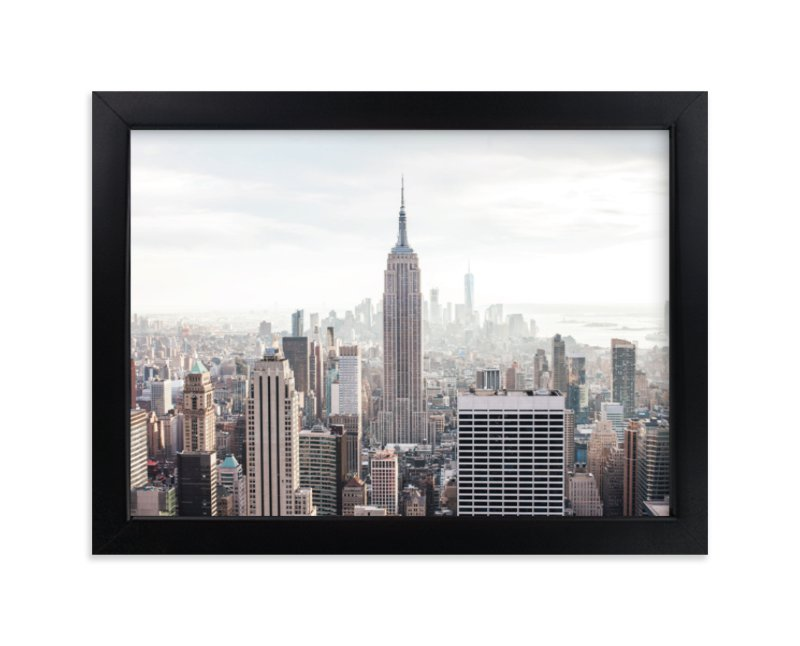 """But First, NYC"" - Limited Edition Art Print by Natalie Uprichard in beautiful frame options and a variety of sizes."